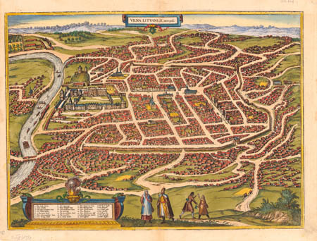 Plan of city Vilnius, 1581