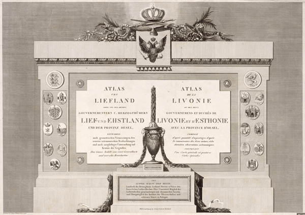 Altas of Lifland and Estland 1791-1798