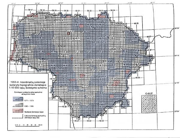 1:10000 sovietinių žemėlapių rinktinis lapas