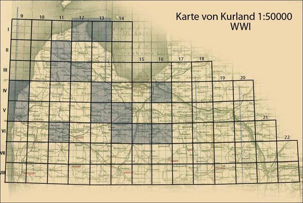 Karte von Kurland 1:50000