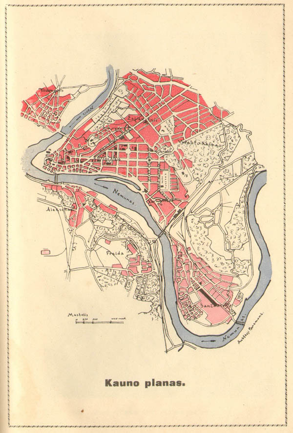 Plan of city Kaunas