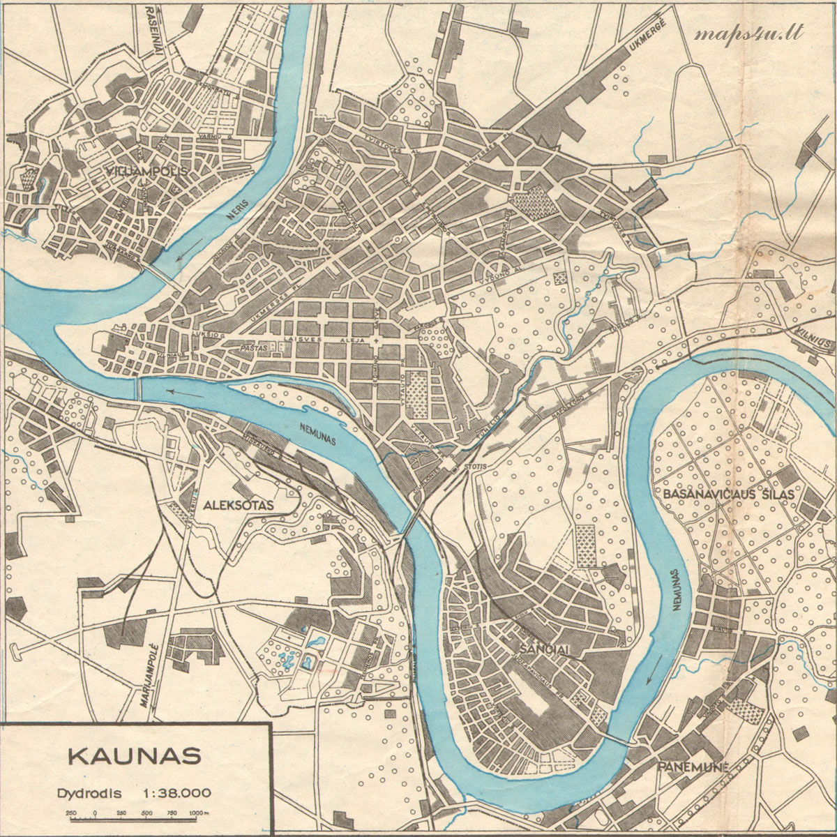 MAPSUlt Maps In History And History In Maps - Kaunas map
