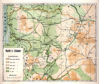 Lithuania 1933 map