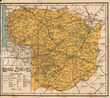 Lietuvos �emėlapis 1920