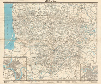 Map Lithuania 1940