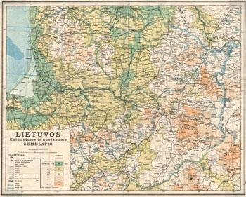 Matulionis Kalnuotumo ir nuotakumo žemėlapis 1937