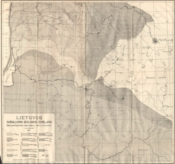 Geological map of Lithuania