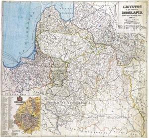 Lietuvos ir pakraščių žemėlapis
