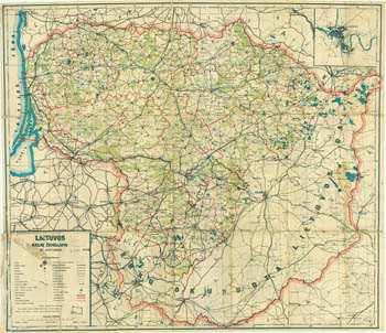 Lithuania road map 1929