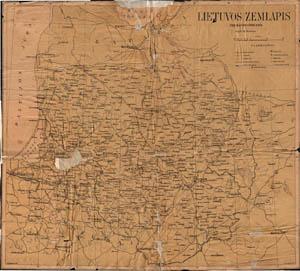 Matas Šalčius Lietuvos žemėlapis