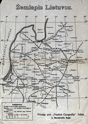 A.Macijauskas Lietuvos žemėlapis