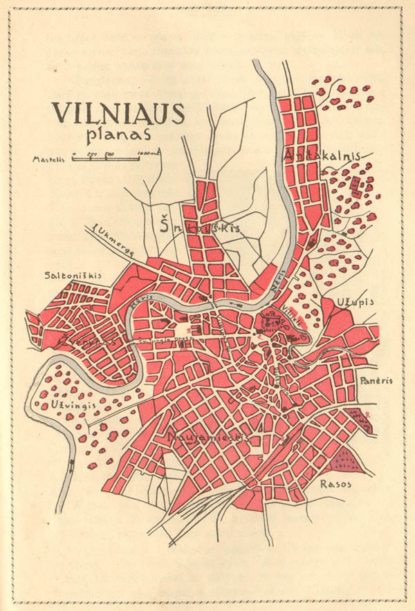 Plan of city Vilnius