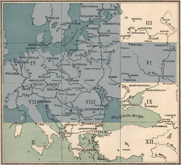 Strategic map of Central Europe