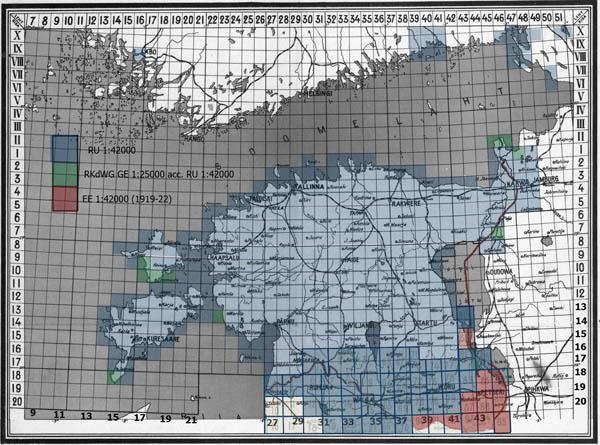 Одноверстовая карта западного пограничного пространства