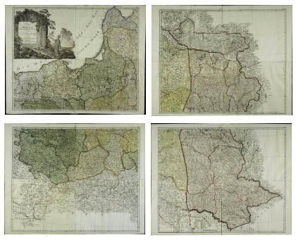 Karte von Polen und den angränzenden Provinzen in XVI Blättern