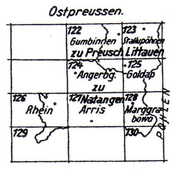 Schmettau karte Ost Preussen