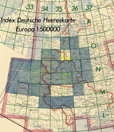 rinktinis 1:500000 mastelio žemėlapių lapas