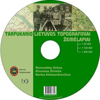 Tarpukario Lietuvos topografiniai žemėlapiai DVD